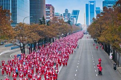 Madrid entra en el Guinness con 5.173 corredores vestidos de Papá Noel