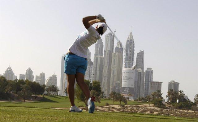 Carlota Ciganda en el Omega Dubai Masters
