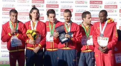 España, plata por equipos en hombres y mujeres en el Europeo de cross