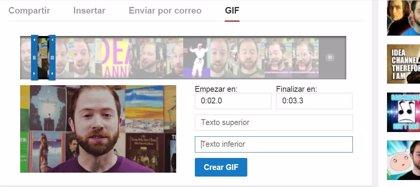 Youtube añade un creador de GIFs a sus vídeos