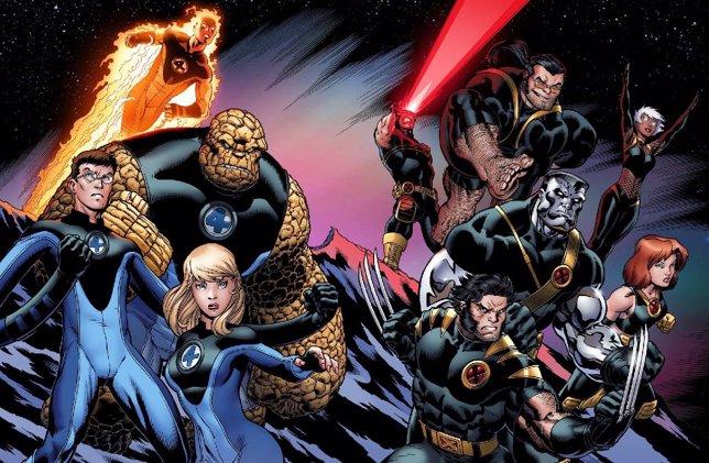 Cuatro Fantásticos y X-Men