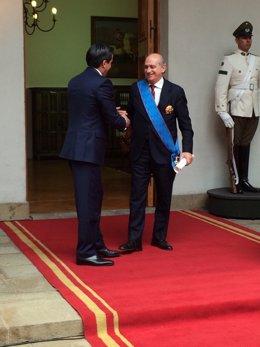 Los ministros de Interior de España y Chile