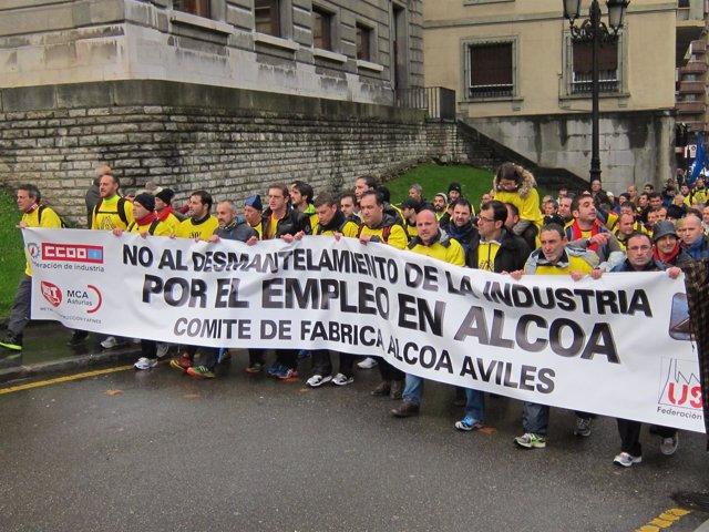 Trabajadores de Alcoa