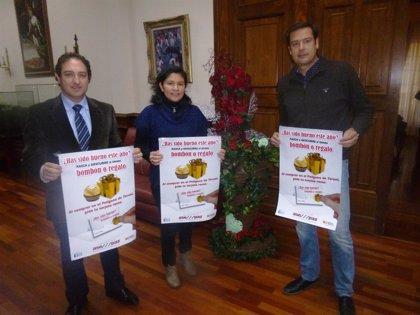 """La campaña """"bombón o regalo"""" de los empresarios de La Paz de Teruel repartirá más de 4.000 obsequios entre los clientes"""