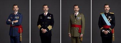Nuevas fotografías de Felipe VI con uniformes militares