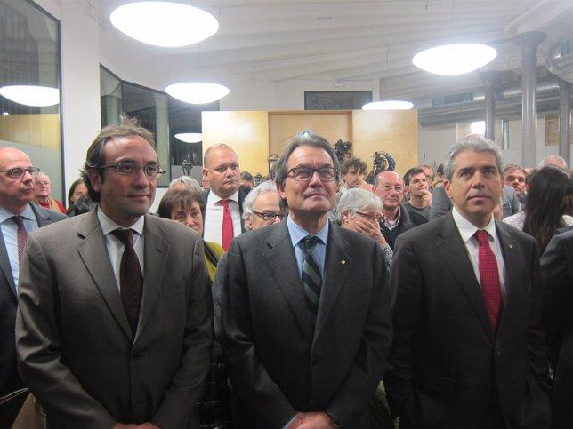 J.Rull, Artur Mas y F.Homs