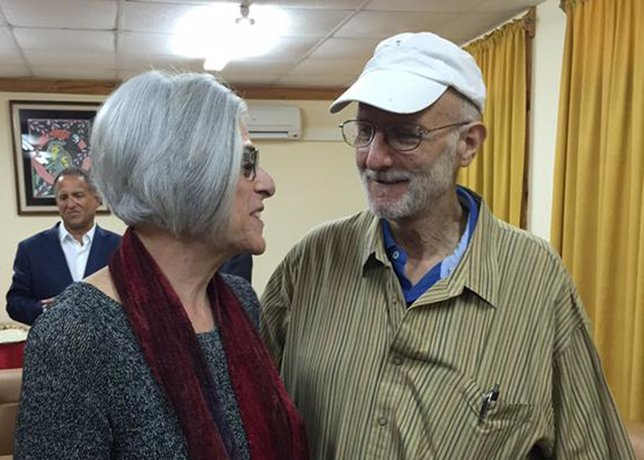 Alan Gross y su mujer tras su liberación