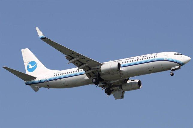 Xiamen Airlines, Avión, Vuelo, chino