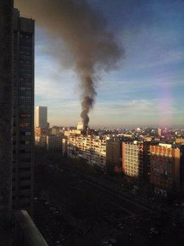 Incendio Ministerio de defenso
