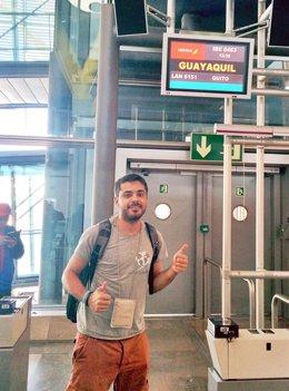 Javier Pérez comienza el recorrido al mundo