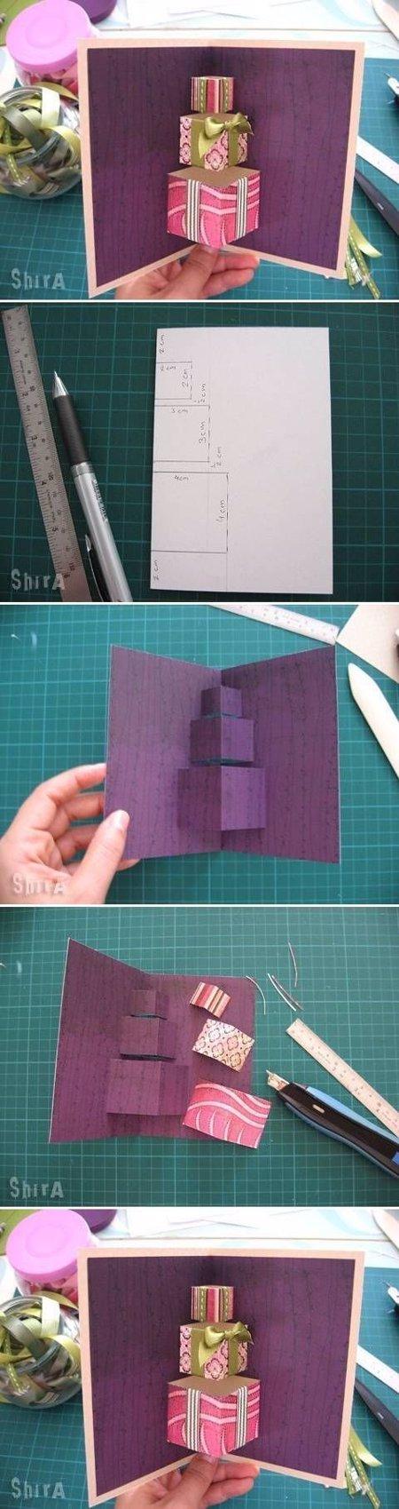 tarjetas navideñas 3d hechas a mano