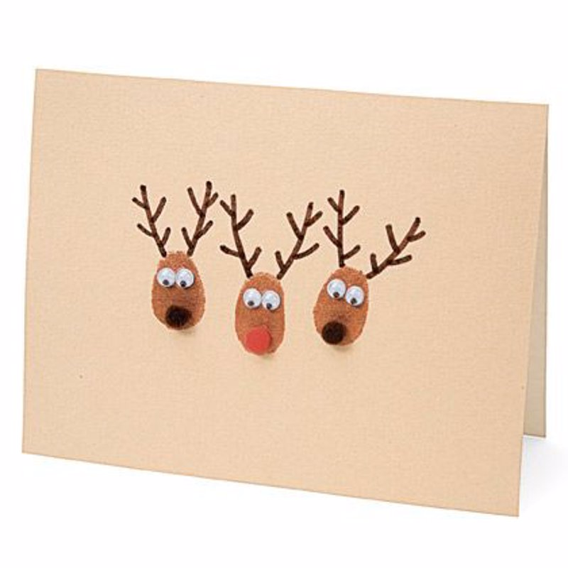 15 ideas para hacer postales de navidad originales a mano - Postales De Navidad Originales