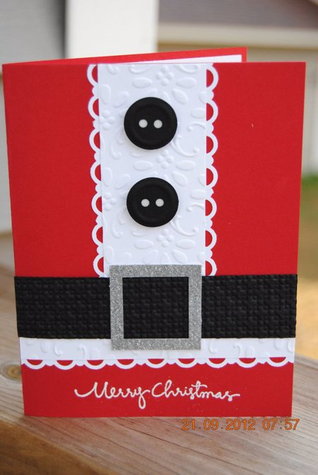 15 ideas para hacer postales de navidad originales a mano - Tarjeta de navidad manualidades ...