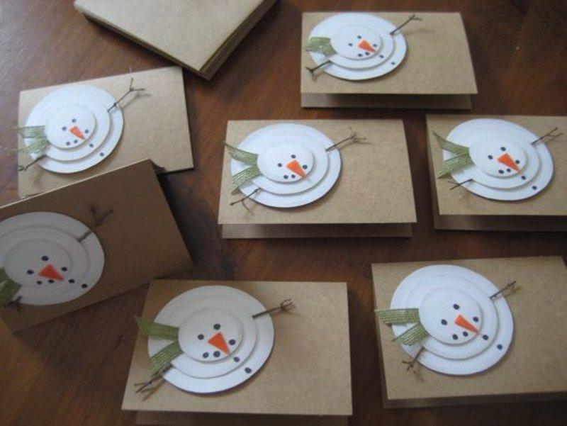 15 ideas para hacer postales de navidad originales a mano - Felicitaciones de navidad originales para ninos ...
