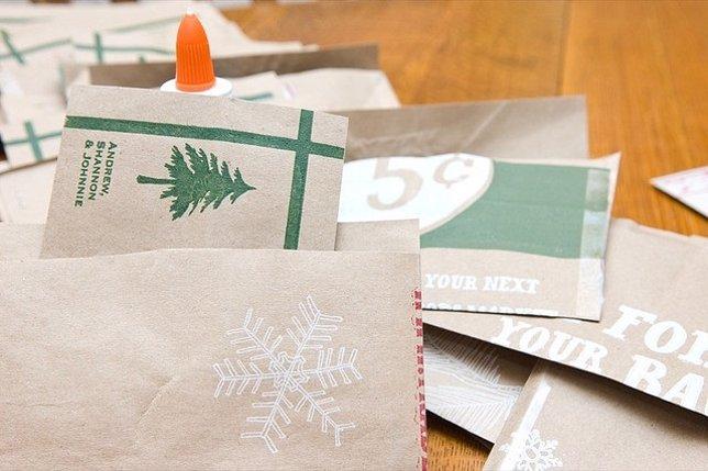 15 Ideas Para Hacer Postales De Navidad Originales A Mano - Tarjeta-de-navidad-original