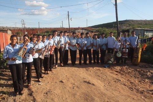 Niños de la orquesta de Cateura, de Asunción (Paraguay)