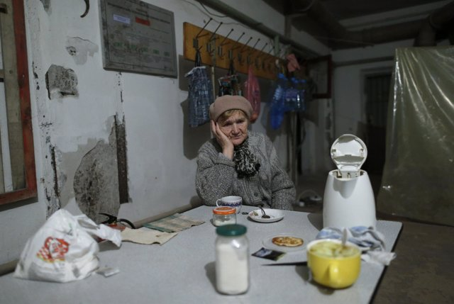 Refugiada en Donetsk
