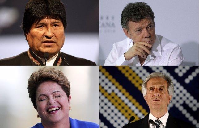 Presidentes en América Latina 2014