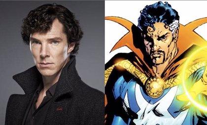 Benedict Cumberbatch luce bigote como Doctor Extraño en el primer concept art