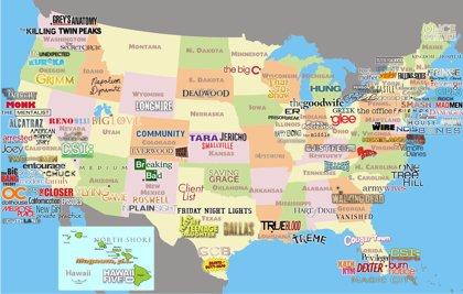 El Mapa De Las Series En Estados Unidos