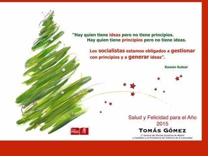 """Gómez felicita la Navidad defendiendo la gestión """"con principios"""""""