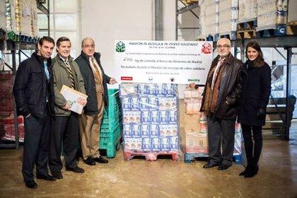 RSC.-Ecovidrio entrega 2.000 kilos de comida al Banco de Alimentos