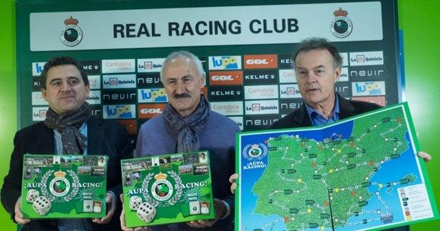 Presentación del juego de mesa del Racing