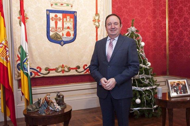 Sanz en su discurso navideño de 2014