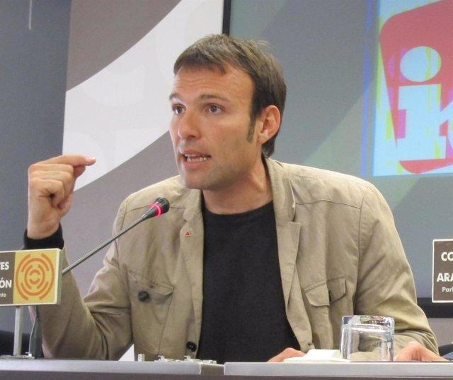 El concejal de IU en el Ayuntamiento de Zaragoza, Pablo Muñoz
