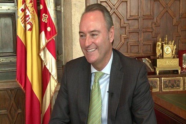 Fabra en su despacho en el Palau de la Generalitat