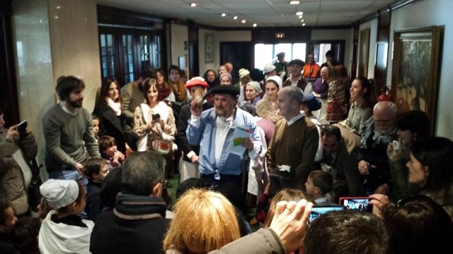 El alcalde de Barakaldo recibe a Olentzero