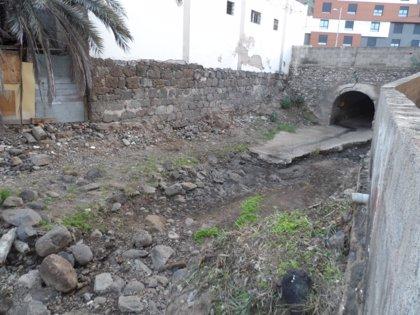 El Ayuntamiento de Las Palmas de Gran Canaria ultima la limpieza de los cauces de los barrancos