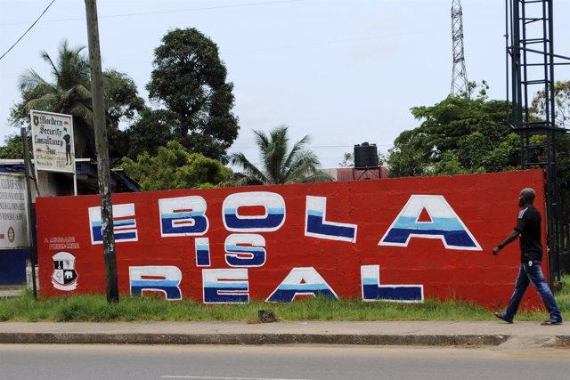 """""""El Ébola Es Real"""", mensaje En Monrovia."""