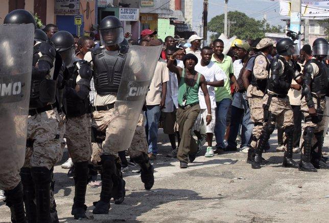 Protestas en Haití contra el presidente Martelly