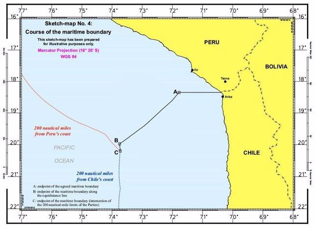 Nueva frontera marítima entre Chile y Perú