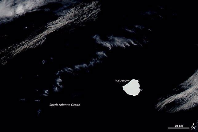 Iceberg captado por el satélite Aqua