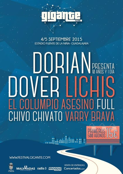 El Festival Gigante de Guadalajara tendrá a Dorian, Dover, Lichis, El Columpio Asesino, Chivo Chivato y Varry Brava