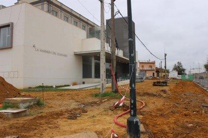 Actuaciones de reurbanización en los accesos al edificio de la Harinera en Alcalá de Guadaíra