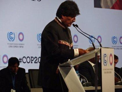 Morales destaca el apoyo del pueblo boliviano en su discurso de balance de 2014