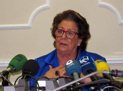 La oposición exige a Barberá explicaciones sobre los supuestos regalos recibidos de Feria Valencia