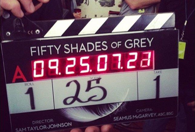 Claqueta de 50 sombras de Grey