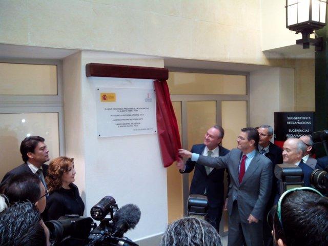 Fabra y Catalá inauguran la rehabilitación de la Audiencia provincial de Alicant