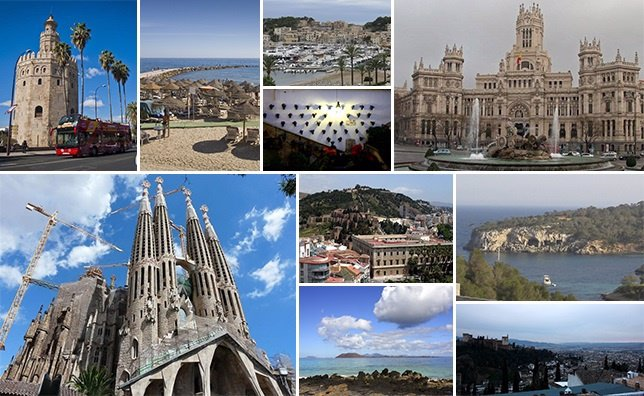Principales destinos España