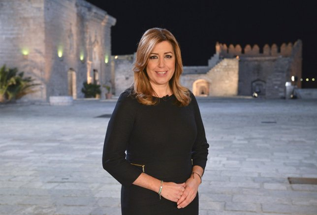 La presidenta de la Junta, Susana Díaz, en su discurso de fin de año
