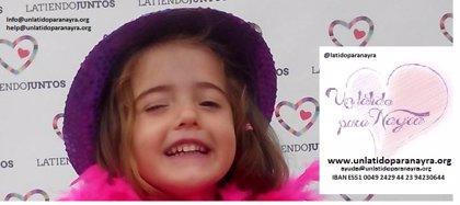 Una madre valenciana inicia una campaña para recaudar fondos y poder operar a su hija de 4 años del corazón en EEUU