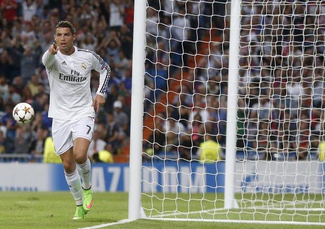 Cristiano celebra su gol ante el Basilea