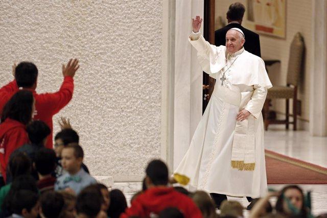 Papa Francisco durante el último ángelus del año.