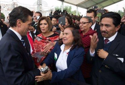 """Peña Nieto promete trabajar """"con determinación"""" para lograr un México en Paz"""