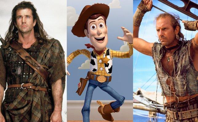 Braveheart, Toy Story, Waterworld
