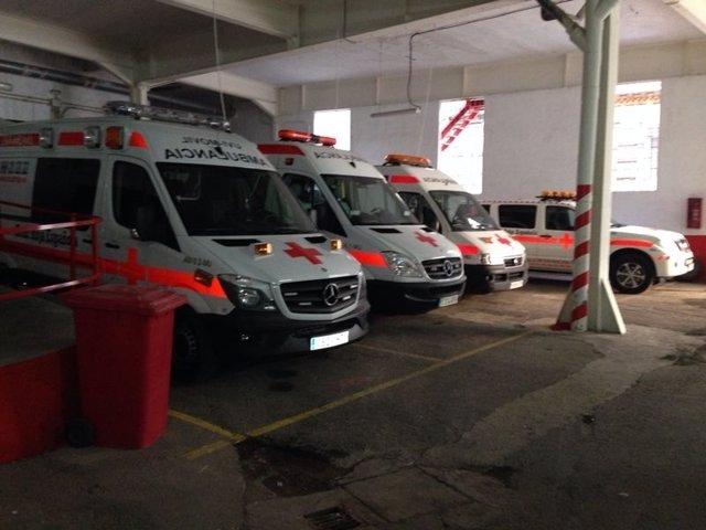 Ambulancias de Cruz Roja